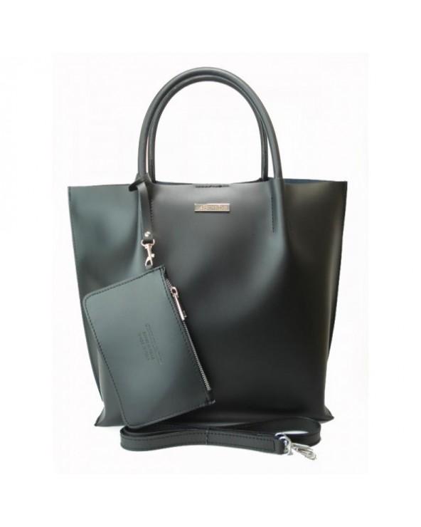 Piękna włoska shopperka Czarna