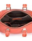 Damska skórzana torebka tote Pomarańczowa