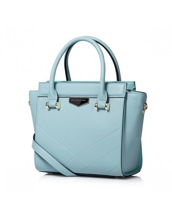 NUCELLE Elegancka damska torebka do ręki Niebieska