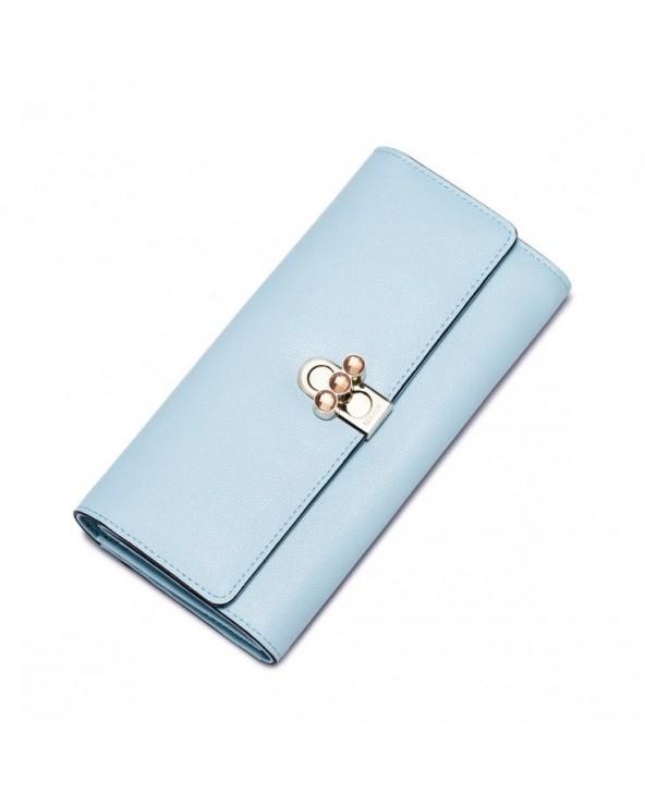 Długi damski portfel z wiosennej kolekcji Niebieski