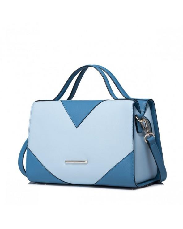 Geometryczna damska torebka do ręki Niebieska