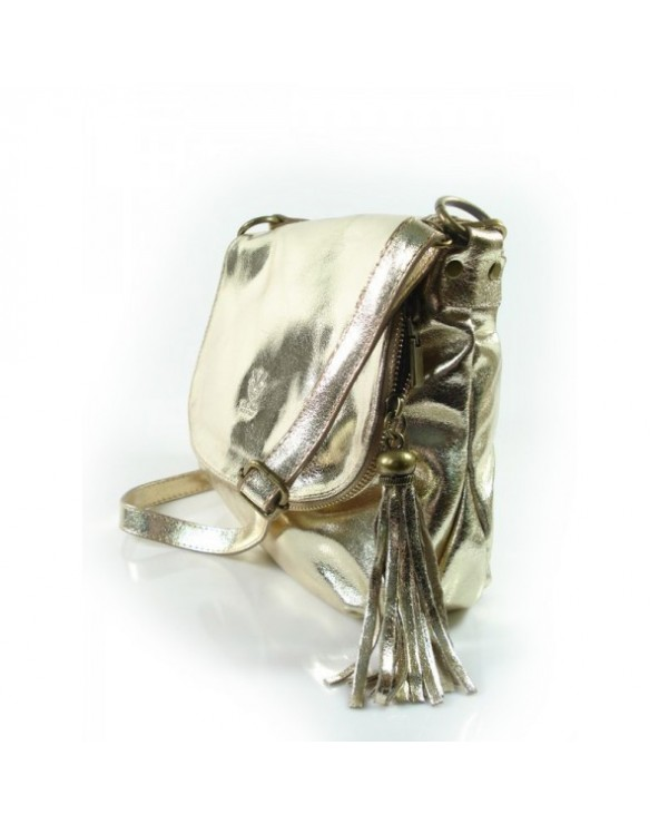 skórzana listonoszka vera pelle złota