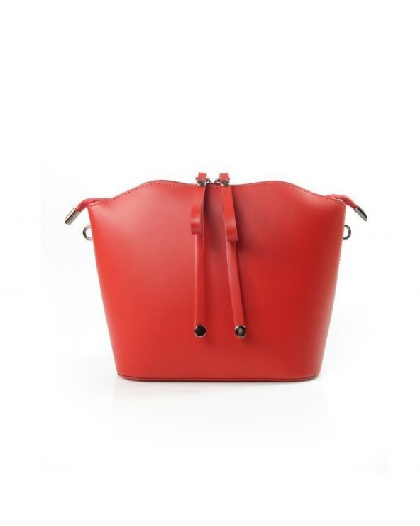 włoska designerska listonoszka vera pelle czerwona
