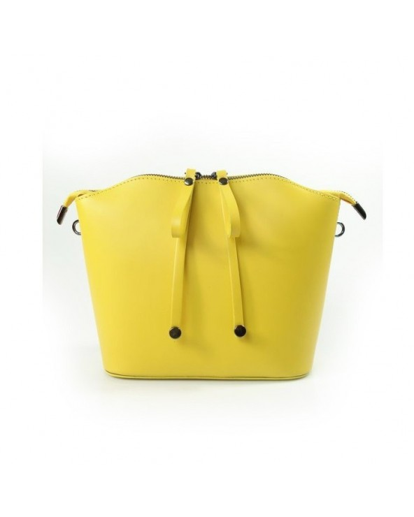 włoska designerska listonoszka vera pelle Żółta