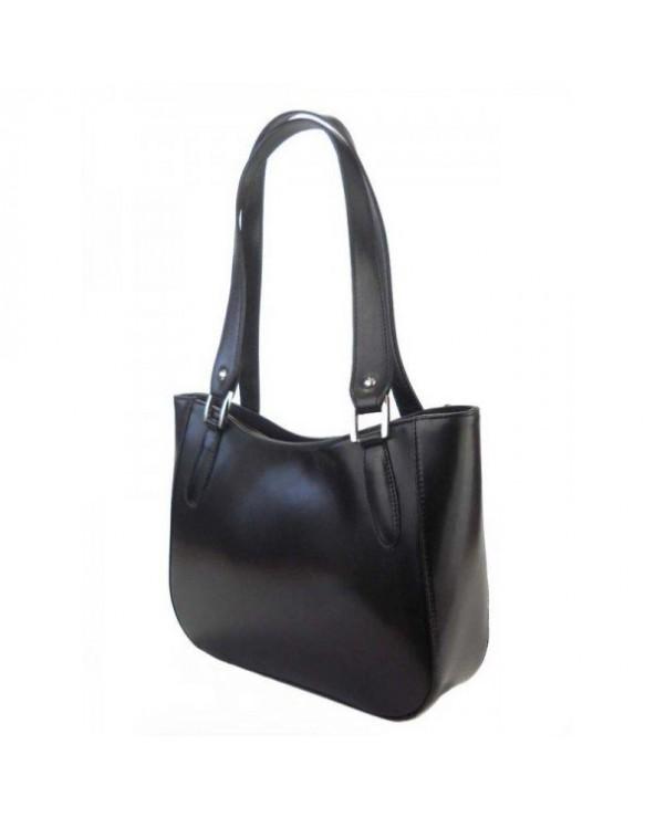klasyczna włoska torebka na ramię czarna
