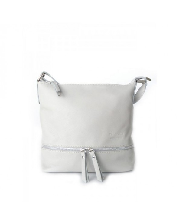 worek włoska torebka vera pelle szara