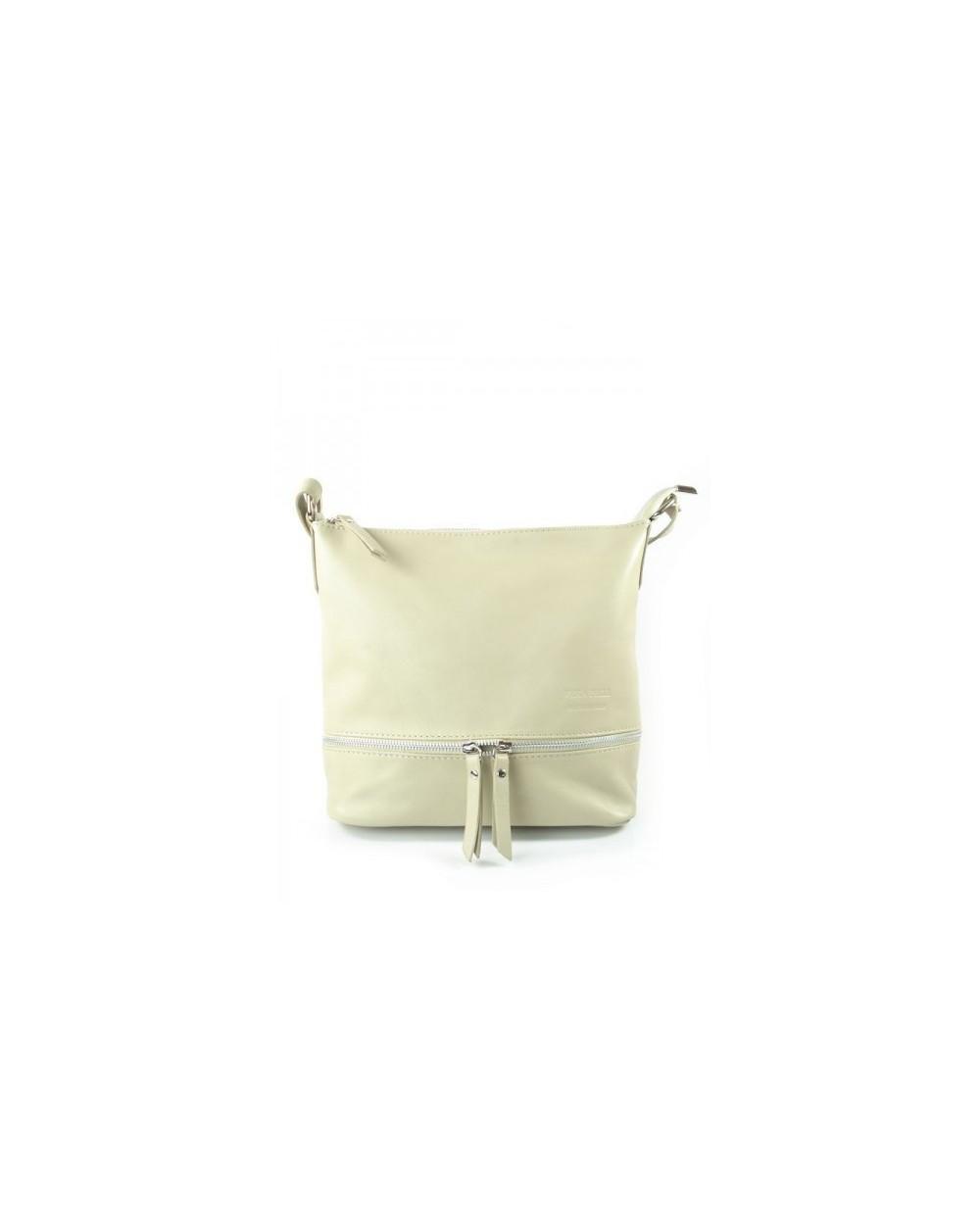 worek włoska torebka vera pelle ecru