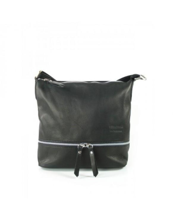 worek włoska torebka vera pelle czarna
