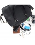 Skórzana miejska torba na ramię czarna
