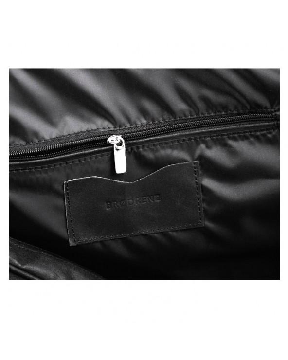 Męska torba na ramię ze skóry Czarna