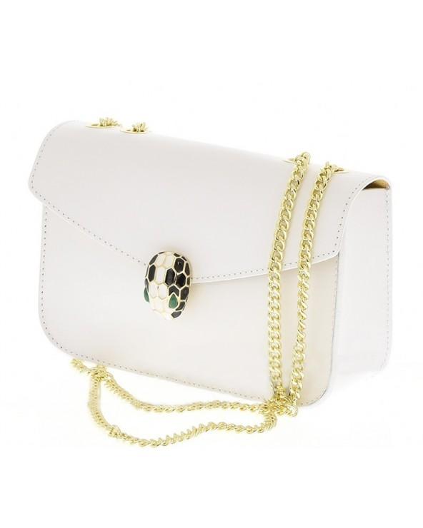 Elegancka torebka z biżuteryjnym zamknięciem a'la Bvlgari