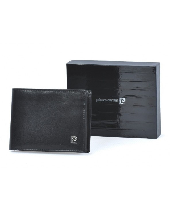 Klasyczny poziomy portfel męski Pierre Cardin