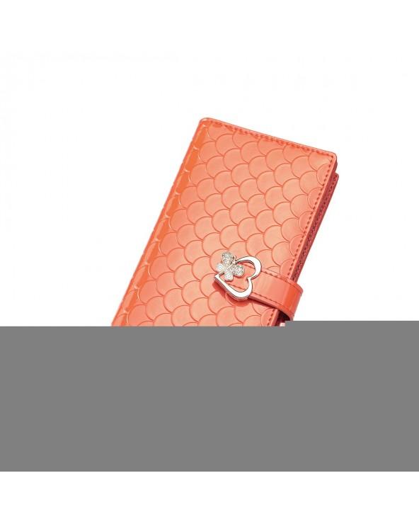 Długi portfel w łuskę rudy