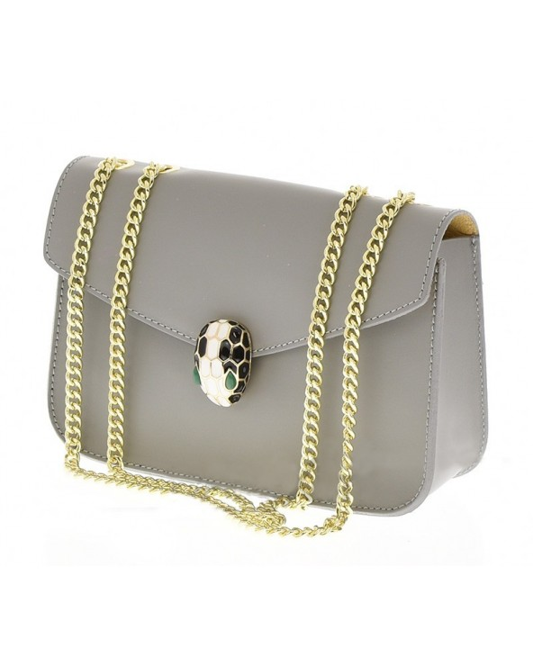 Elegancka torebka z biżuteryjnym zamknięciem a'la Bulgari