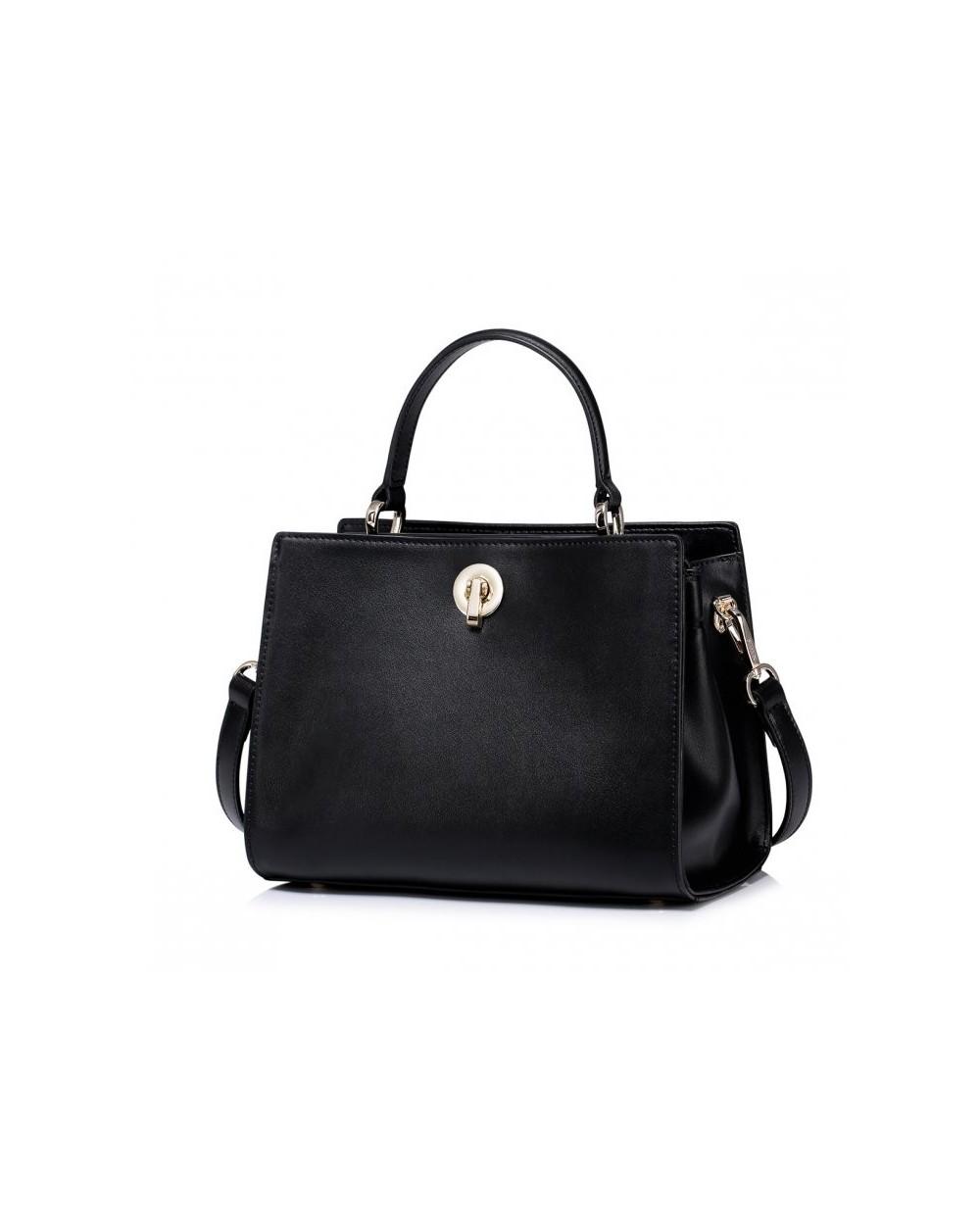 Damska torebka do ręki w letnim stylu Czarna