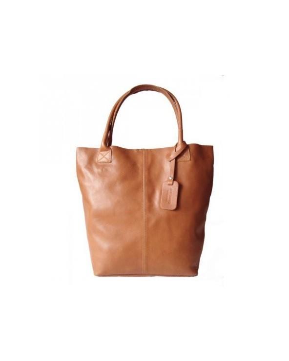 Skórzana torebka włoski shopper