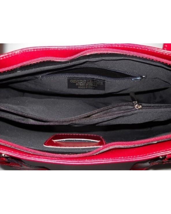 Klasyczna włoska torebka na ramię Granatowa