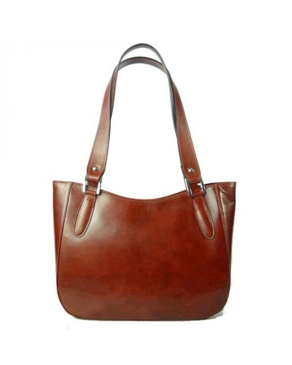 Klasyczna włoska torebka na ramię brązowa