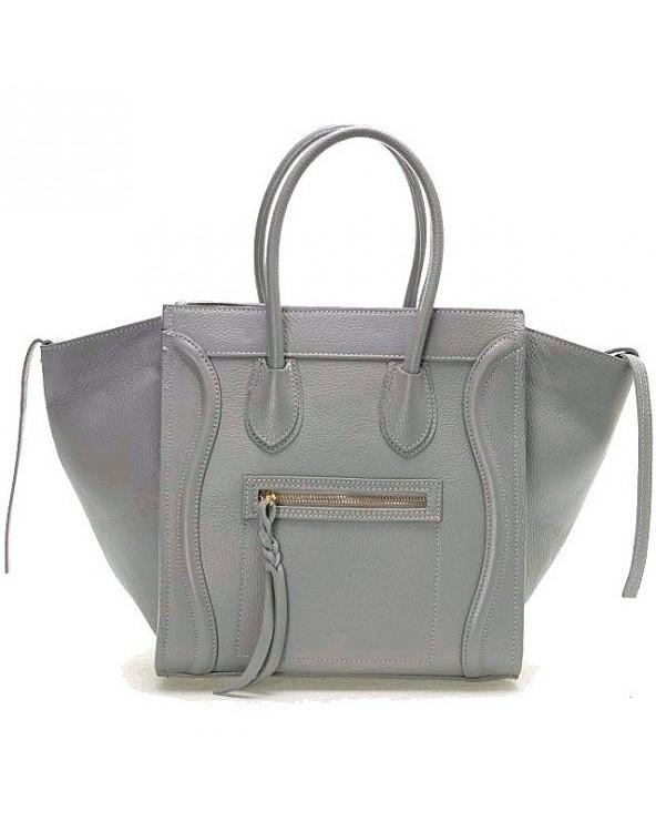 Włoska torebka a'la Celine Houston szary