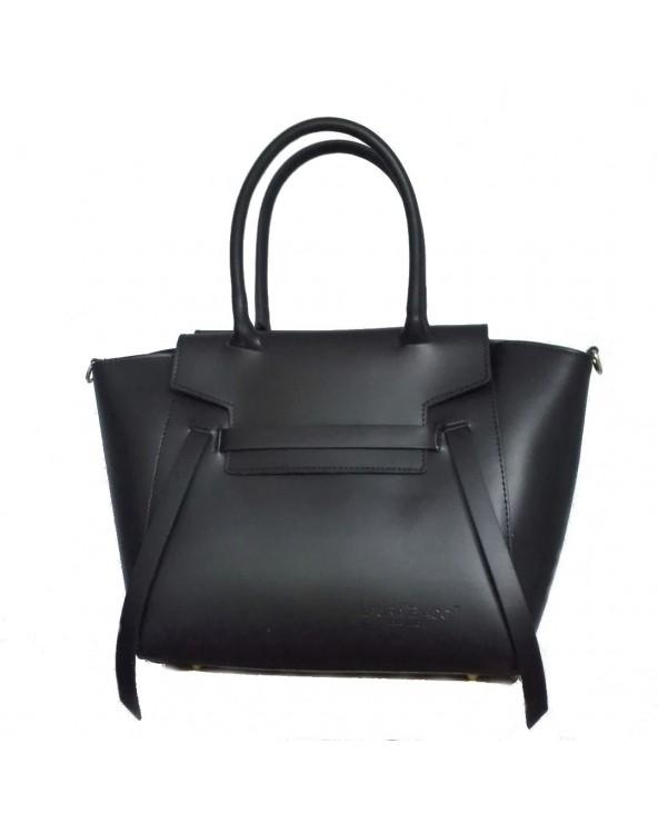 Włoska torebka skórzana a'la Celine belt bag czarna