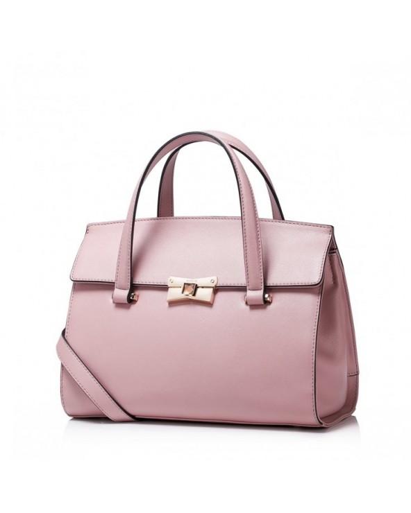 Elegancka damska torebka do ręki z kolekcji jesiennej Różowa