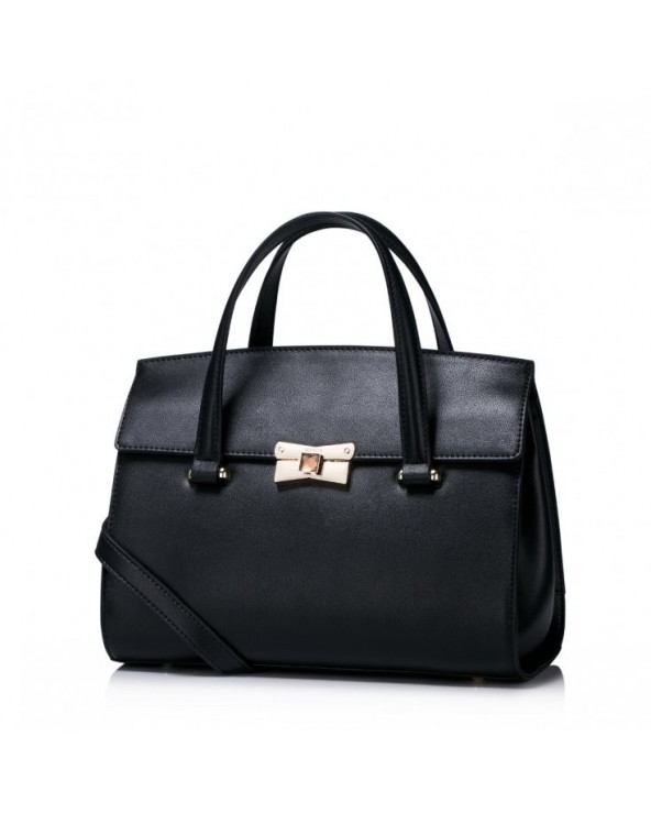 Elegancka damska torebka do ręki z kolekcji jesiennej Czarna