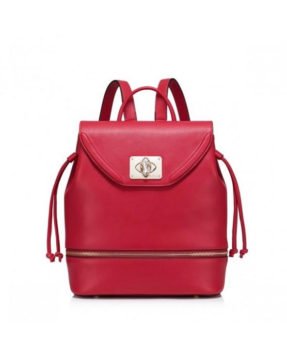 Stylowy damski plecak Czerwony