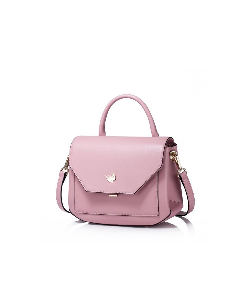 Damska torebka na ramię w prostym stylu Różowa