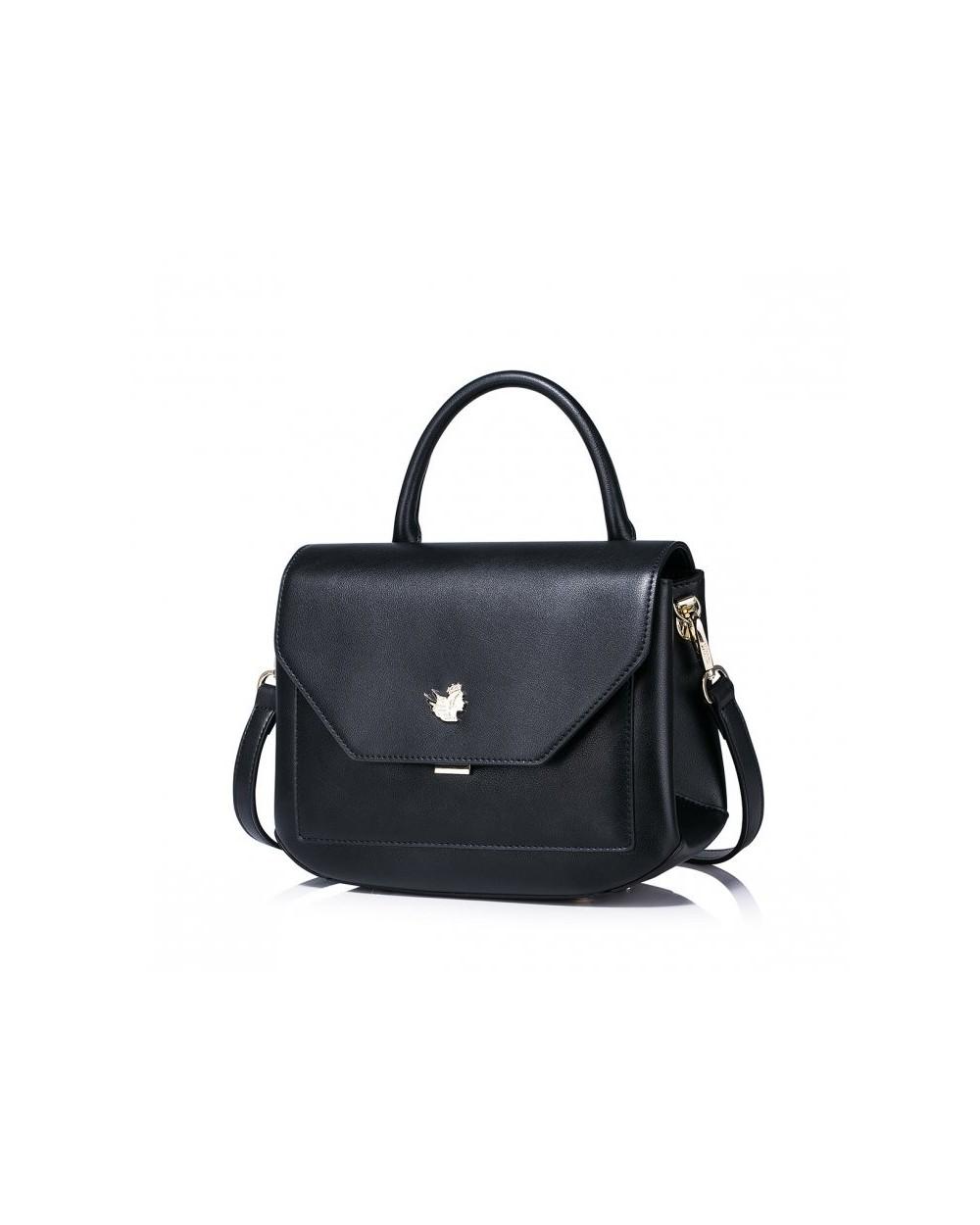 Damska torebka na ramię w prostym stylu Czarna