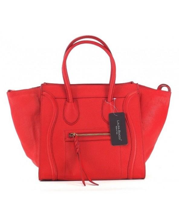 Włoska torebka a'la Celine Houston czerwon