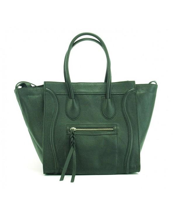 Włoska torebka a'la Celine Houston zielona