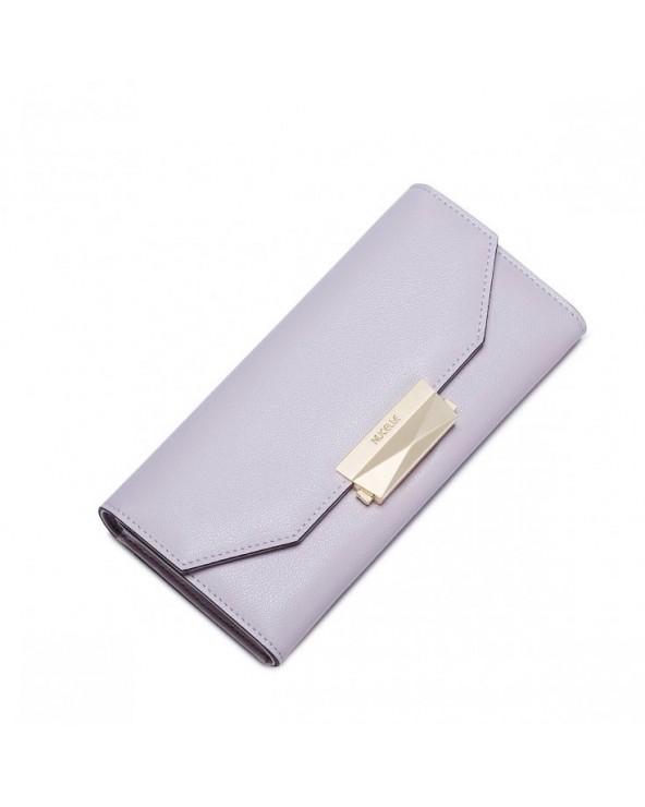 Minimalistyczny damski portfel Nucelle jasnopurpurowy