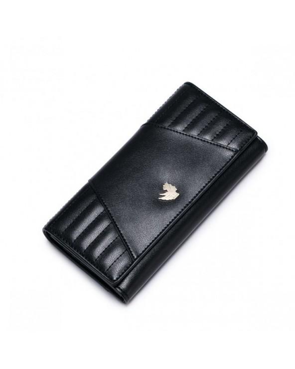 NUCELLE Prosty stylowy portfel Czarny