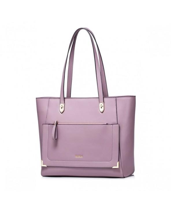 NUCELLE Stylowy shopper na ramię purpurowy purpurowa 1170931-09