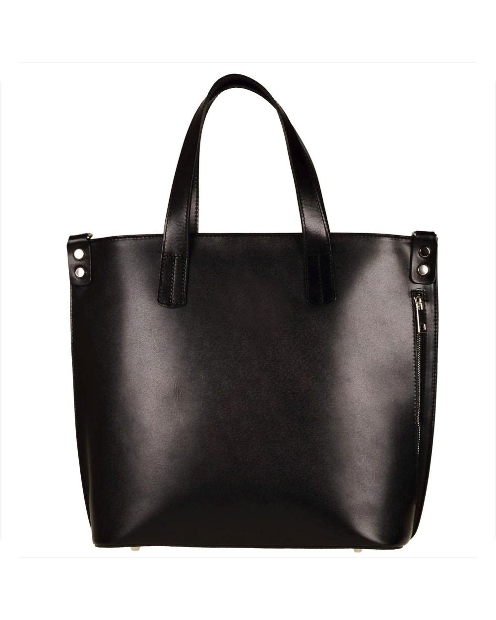 b9ef3e2d7cc49 Shopper bag skórzana torba damska XL czarna - Sklep internetowy ...