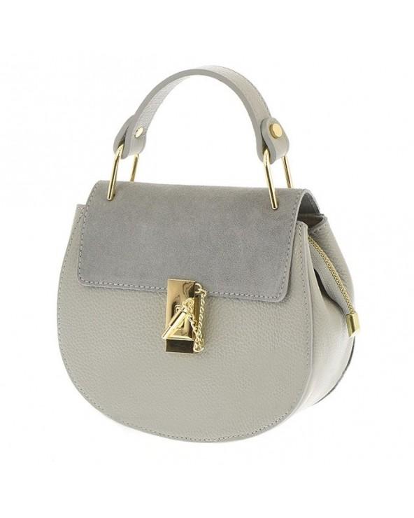 Włoska torebka a'la Chloe Drew Bag szara