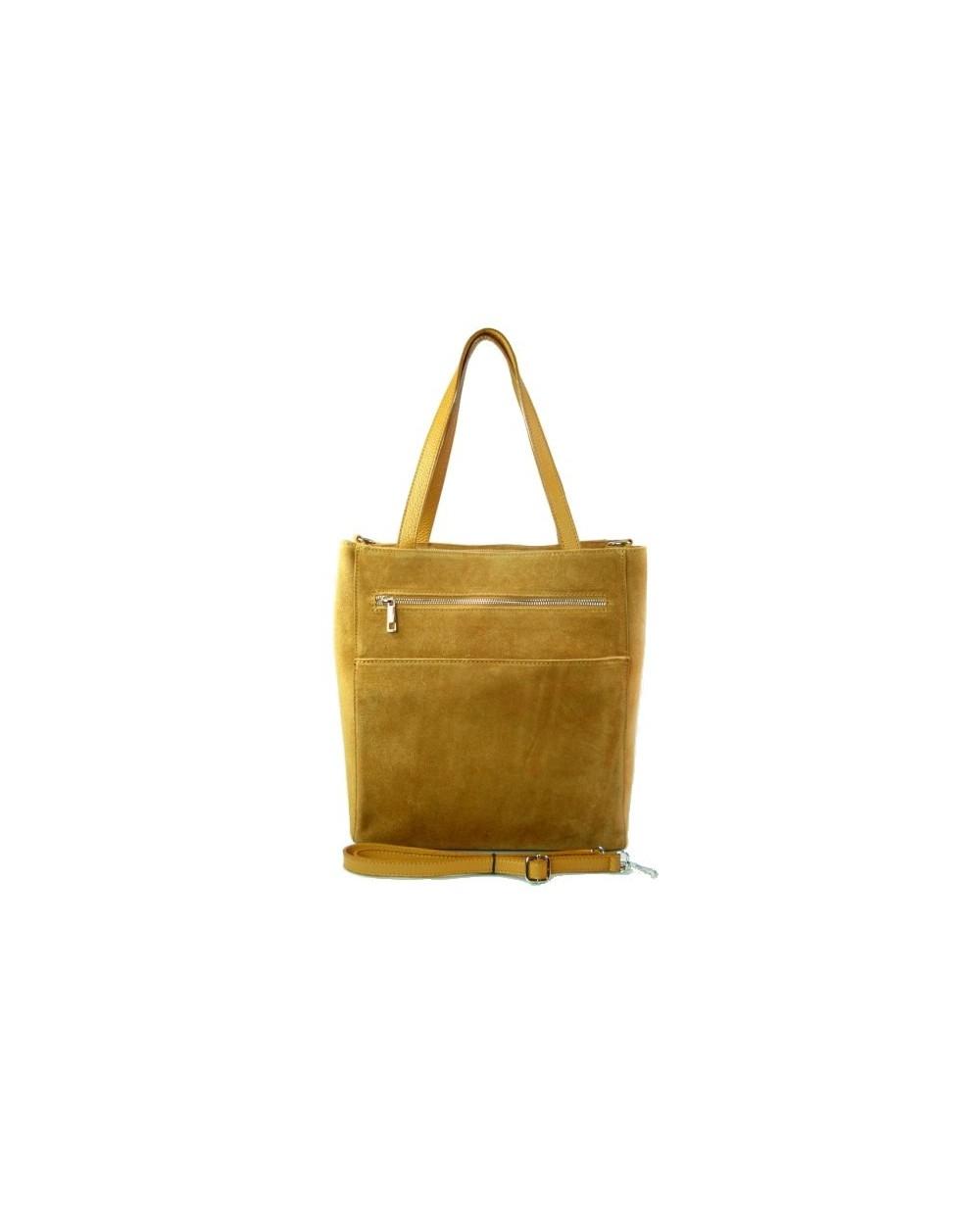 faa811bcab7d8 Włoska zamszowa torebka shopper bag camel - Sklep internetowy ...