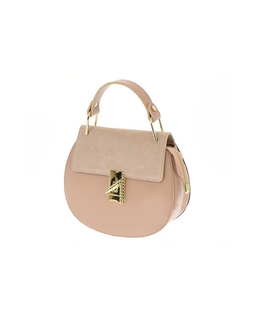 Włoska torebka a'la Chloe Drew Bag róż pudrowy