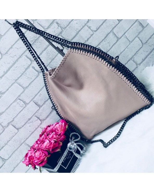 Skórzana torebka Stella szara