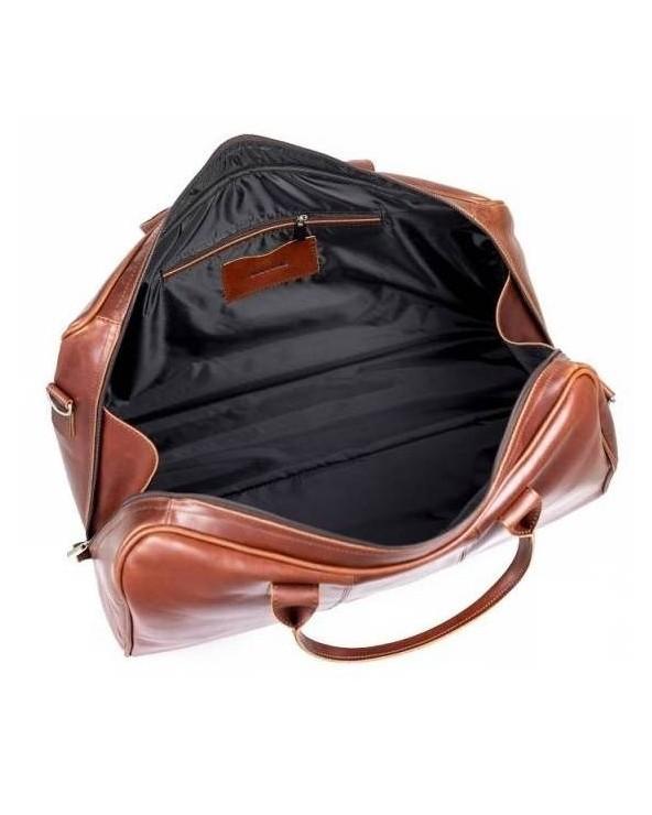 Podróżna torba ze skóry naturalnej Brodrene ciemny brąz