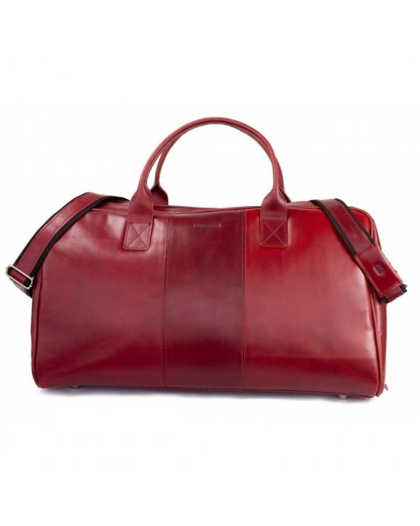 Podróżna torba ze skóry naturalnej Brodrene czerwony