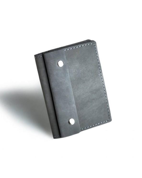 Cienki skórzany portfel męski Brødrene czarny
