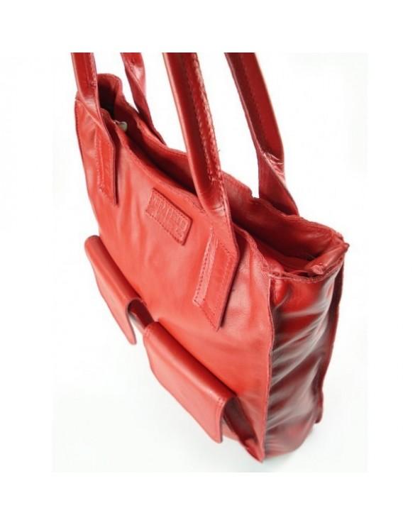 Czerwone torebki skórzane wloskie sklep internetowy