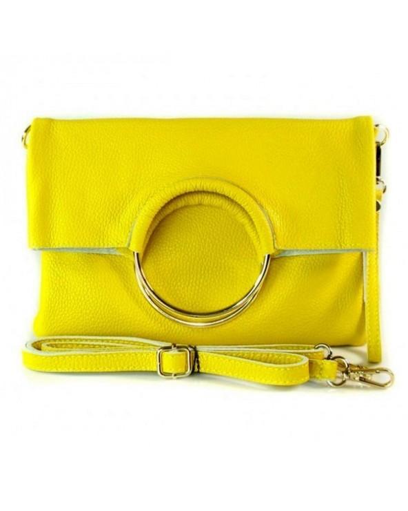 Niesamowita torebka włoska 3 w 1 listonoszka shopper żółta