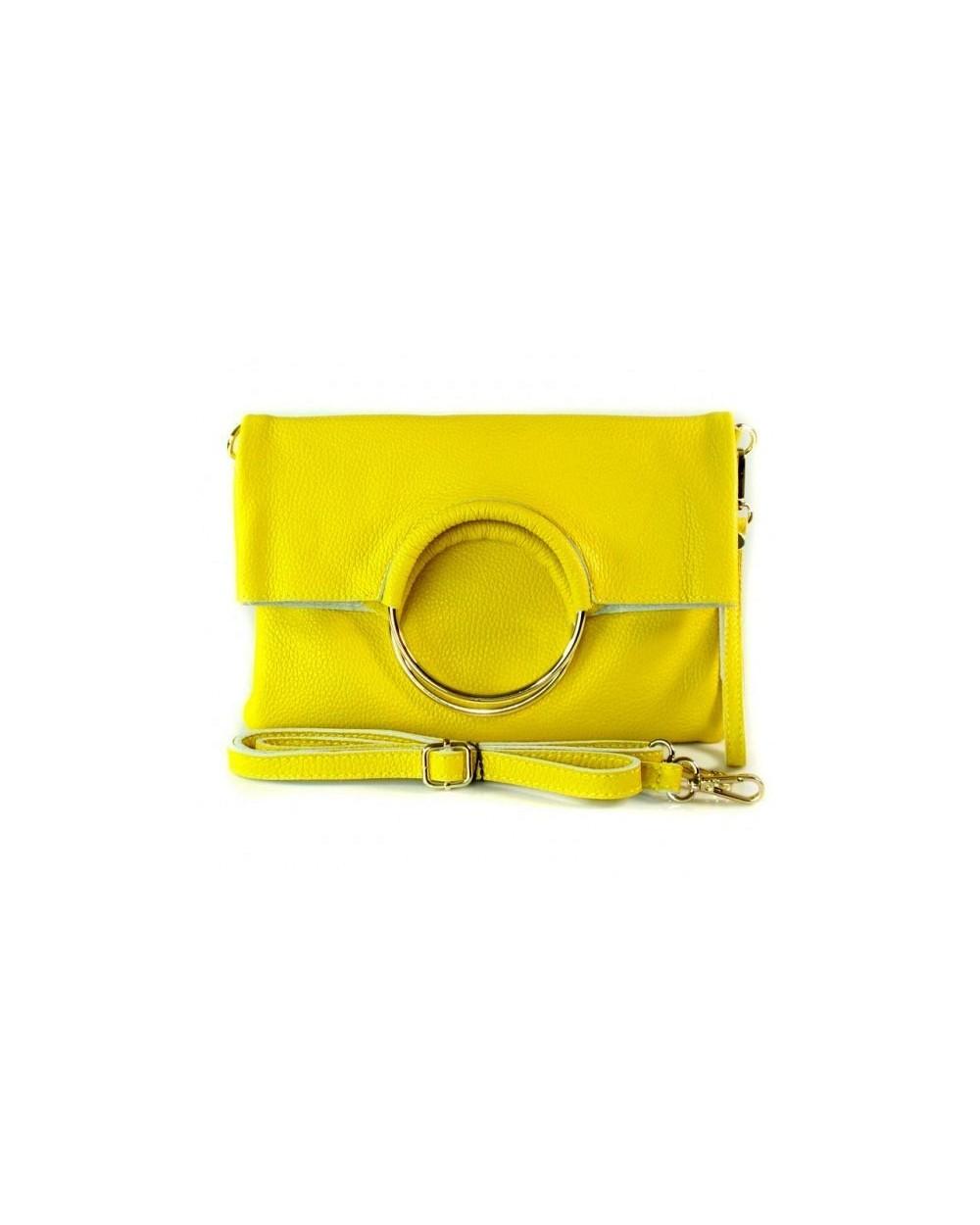 9a61a00e35970 Niesamowita torebka włoska 3 w 1 listonoszka shopper żółta - Sklep ...