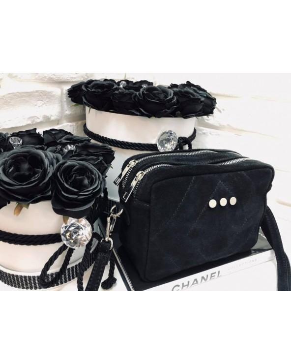Prostokątna torebka na łańcuszku czarna