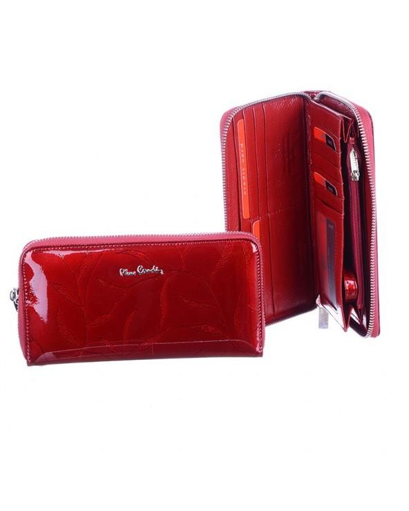 Stylowy portfel damski Pierre Cardin czerwony