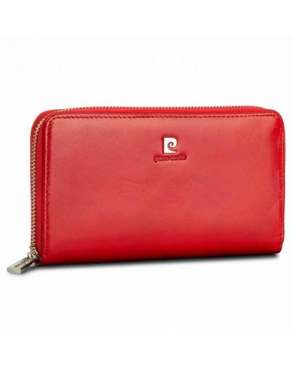 Modny portfel damski Pierre Cardin czerwony