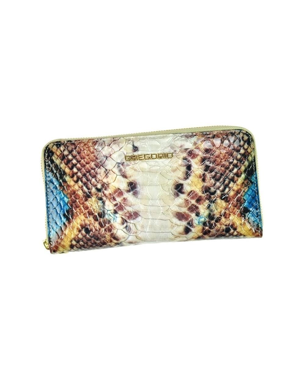 6007b10340823 Damski portfel kopertówka skóra węża niebieski - Sklep internetowy ...