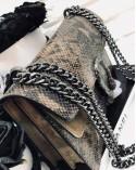 Kopertówka Dionizos skóra węża taupe